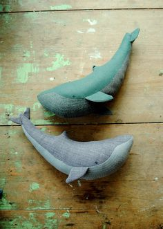 Blue whale soft toy / soft sculpture / Willowynn by willowynn
