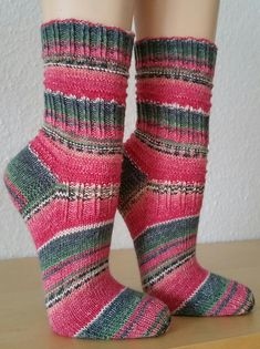 Knitting Patterns Socks Ravelry: Mojo Light Socks pattern by Katrin Klaffenböck Easy Knitting Patterns, Lace Knitting, Knitting Socks, Knit Crochet, Simple Knitting, Knit Socks, Tricot Simple, Crochet Scarf For Beginners, Baby Boy Booties