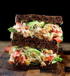 "Loaded Chicken (or Tuna) Salad with Greek Yogurt Ranch ""Mayo"""