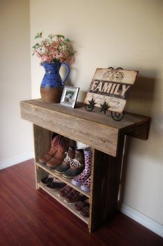 Console Table. Wood Entry Way or Wall Table 36 x por TRUECONNECTION