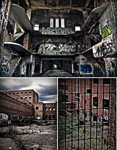 Abandoned Carcel Prison, Madrid. An example of the 'panopticon' architecture style that made surveillance of prisoners and patients easier for watchmen.