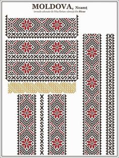 ie MOLDOVA, Neamt / Bicaz | Semne Cusute | Bloglovin Folk Embroidery, Cross Stitch Embroidery, Embroidery Patterns, Knitting Patterns, Learn Embroidery, Cross Stitch Borders, Cross Stitching, Cross Stitch Patterns, Moldova