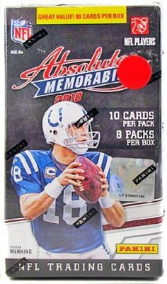 1d517fff233 2010 Panini Absolute Memorabilia Football 8-Pack Box by Absolute. $9.95.  Look for