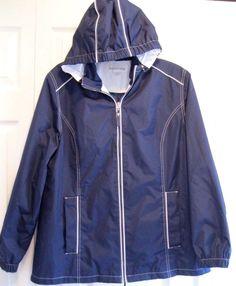 Women's Lightweight Hooded Jacket Size L Breckenridge Removable Hood IEUC #Breckenridge #BasicJacket #any