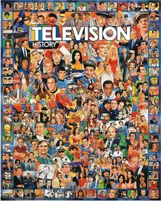 """The ultimate TV trivia puzzle! Over 250 stars and unforgettable moments in American television history. Artist: James Mellett: Item 270: 1000 piece jigsaw puzzle: Finished size 24"""" X 30"""""""