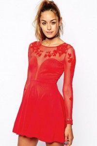 Rochie de ocazie rosie Plunge