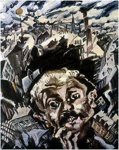 """""""Ich und die Stadt"""" von Ludwig Meidner (1913)."""