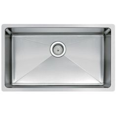 Water Creation Undermount Small Radius Stainless Steel 30x18x9 0-Hole Single Bowl Kitchen Sink in Satin Finish-SS-U-3018B - The Home Depot