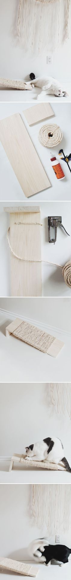 Claw Control: The DIY Cat Scratching Post by Margot Guralnick