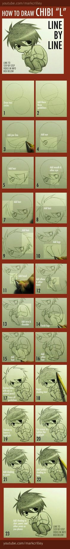 How to draw L chibi