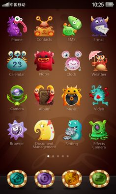 ugly multicolor monster by aaron rui, via Behance