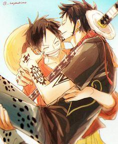 One Piece Ship, One Piece Comic, Fanarts Anime, Manga Anime, Ace And Luffy, One Peace, Trafalgar Law, Monkey D Luffy, One Punch Man
