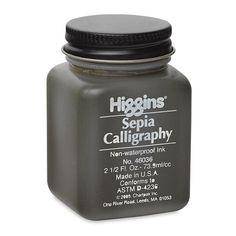 Amazon.com: Higgins Sepia Calligraphy Ink 2.5 Oz