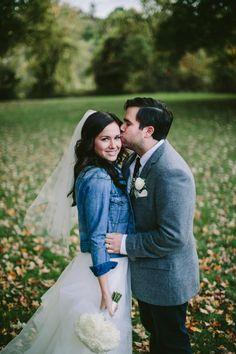 jean jacket brides // photo by Lev Kuperman