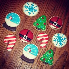 Christmas Cookies, Snow Globe Cookies, Christmas Tree Cookies, Santa Cookies, Candy Cane Cookies, Snowflake Cookies confection.connection's photo on Instagram