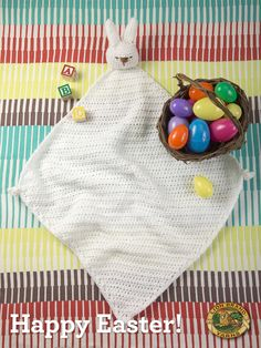 Happy Easter! Make this cute bunny blankie with Vanna's Choice - get the free crochet pattern now.