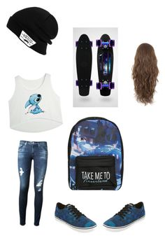 """What I want to look like"" by sammisinger-1 ❤ liked on Polyvore featuring Disney, Vans and AG Adriano Goldschmied"