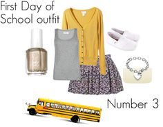 """First Day of School Outfit Number 3"" by emstephable ❤ liked on Polyvore"