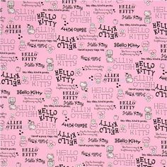 pink Hello Kitty oxford fabric logo writing by Sanrio from Japan 2