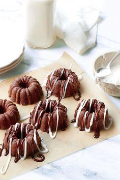 Pound Cake Recipes: Mini Triple-Chocolate Buttermilk Pound Cakes