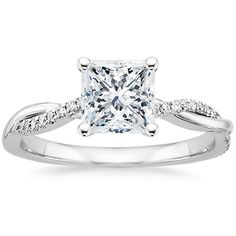 Favorite ring!!!!!  Platinum Petite Twisted Vine Diamond Ring from Brilliant Earth. WOW! Gorgeous! Must be Princess Cut!