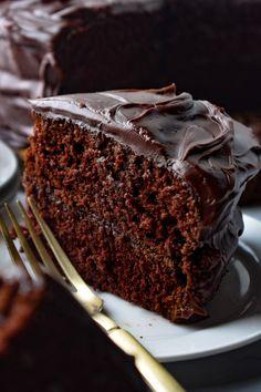 Matilda Chocolate Cake, Buttermilk Chocolate Cake, Chocolate Cobbler, Chocolate Bundt Cake, Chocolate Icing, Vegan Chocolate, Chocolate Desserts, Buttermilk Cupcakes, Chocolate Heaven