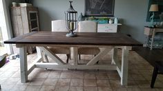 4x6 Truss Beam Farm Table | Do It Yourself Home Projects from Ana White
