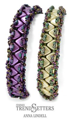 Zipper Bracelet with CzechMates Triangle beads by TrendSetter Anna Lindell. Ask for this pattern at your favorite bead store.