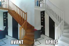 1000 id es sur le th me escalier en bois peint sur pinterest escaliers escalier relooking et for Peut on peindre sur un escalier vitrifie