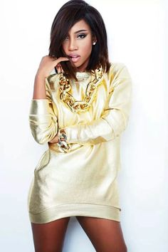 Sevyn Streeter she is BEAUTIFUL!!!! you need to hear her song IT WONT STOP.