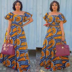 Beautiful Long Ankara Gowns that is in Vogue this remaining part of 2018 African Fashion Ankara, Latest African Fashion Dresses, African Print Fashion, Africa Fashion, African Attire, African Wear, African Women, Long African Dresses, African Print Dresses