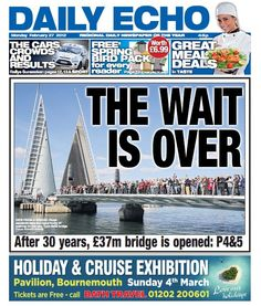 The Twin Sails bridge opens after a 30 campaign. Story here: Bournemouth, 30 Years, Sailing, Cruise, Bridge, Twin, Campaign, Business, Candle