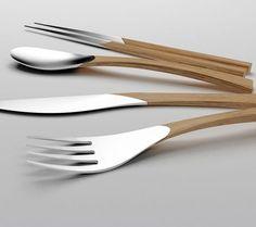 Cubertería de Madera Y Plata - Wood and Silver cutlery by CLARA DEL PORTILLO