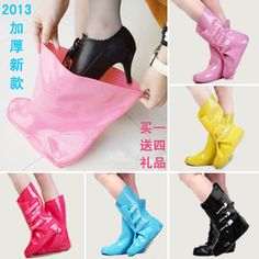 free shipping Thickening bearcat rain boots rainboots female fashion slip-resistant rain shoe covers rainboots set water shoes $29.44