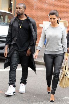 Kim Kardashian and Kanye West's Best Matching Outfits - Kim Kardashian and Kanye West's Best Matching Outfits - Kim Kardashian Kanye West Style