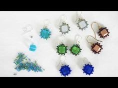 Beadweaving Tutorial: Peyote Stitch Cube Bead Earrings - YouTube