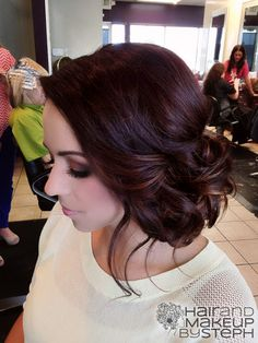 LOVE the color, and the style on the side! I would leave it long a curled in the back for my wedding.