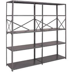 Quantum Heavy-Duty 18-Gauge Industrial Steel Shelving - 7 Shelves, 36in.W x 12in.D x 87in.H, Model# 18G-87-1236-7 by Quantum. $179.99. Braces cover perimeter of rack instead of aligning at just one point. X-shaped antisway braces provide more support and increased rigidity. Shelves easily adjustable on 1in. centers. Reinforced front and rear edges. Roll-formed steel-ribbed shelves. Customized to your special needs, these heavy-duty Quantum steel shelving units have...