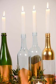 Dipped bottle candle holder tutorial 3