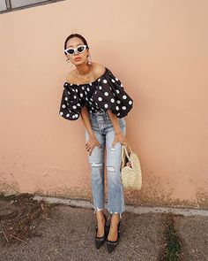 Great Polka Dots Outfits For This Summer