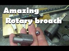 The Rotary Broach Method To Getting A Square Hole In Steel Homemade Tools, Diy Tools, Metal Fab, Modern Tools, Lathe Tools, Metal Working Tools, Shop Storage, Metal Shop, Metal Projects