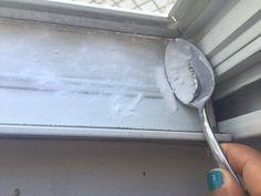 Window tracks baking soda /vinegar & water &soap/ toothbrush/ wipe with paper towel