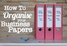 Organize that paper trail