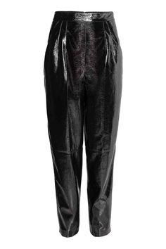 Lakierowane spodnie - Czarny - ONA | H&M PL