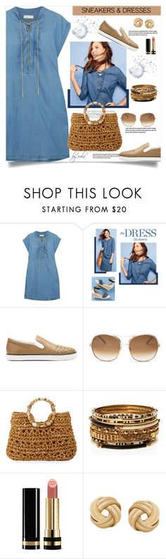 """""""Sporty Chic: Sneakers and Dresses"""" by eula-eldridge-tolliver ❤ liked on Polyvore featuring MICHAEL Michael Kors, Melissa, Talbots, Bottega Veneta, Chloé, Cappelli Straworld, Amrita Singh and Gucci"""
