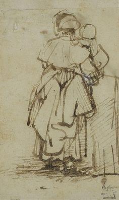 Rembrandt, 1640 ca Epic Drawings, Dancing Drawings, Drawing Sketches, Rembrandt Drawings, Art Et Illustration, Illustrations, Kandinsky, Beautiful Drawings, Renoir