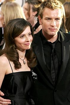Ewan and his lovely French wife Eve.