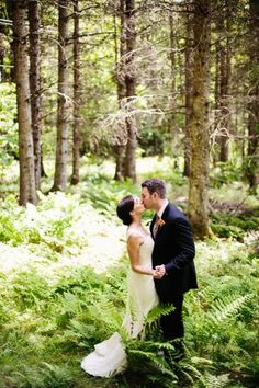 Stunning Vermont wedding. Forest full of trees, what more could you ask for, for a wedding in Vermont!
