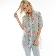 Daisy Button Down Shirt