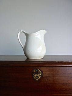 White Ironstone Pitcher // Simple